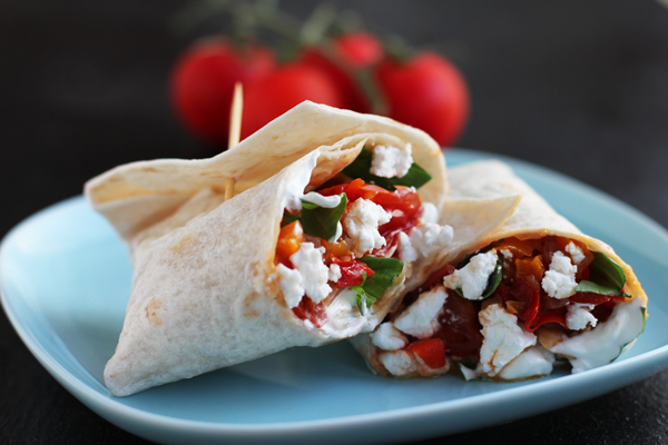 Tomato & Cheese Brekkie Wrap